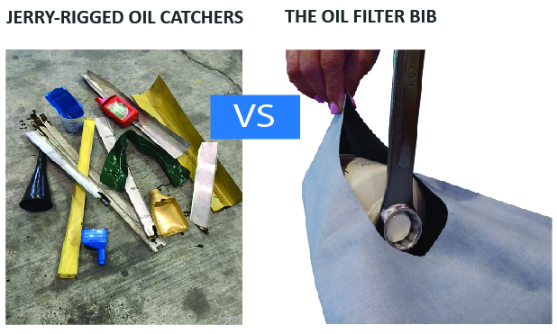 Oil Filter Bib does away with jerry-rigged oil changes .